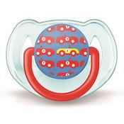 Пустышка Avent Дизайн для мальчика силик., 1 шт., 6-18 мес., арт. 86124