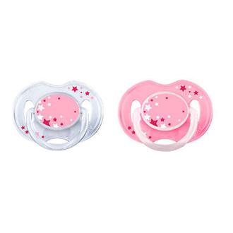 Пустышка Philips Avent ночная розовая 0-6 мес., 2 шт. 86452
