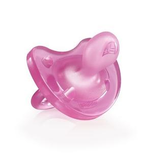 Пустышка Chicco Physio Soft 1 шт., 6-12 мес., силикон, розовый 310410153