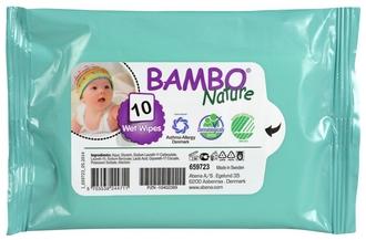 Влажные салфетки Bambo Nature без отдушек №10