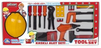 Игровой набор строителя с каской Pilsan